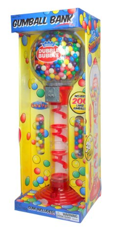 Sweet N Fun 9076 Metal Spiral Fun Gumball Bank with Gumballs, 36