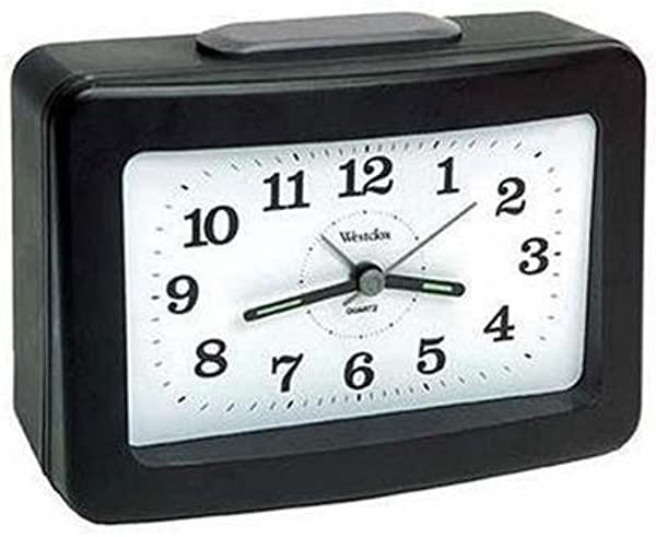 Westclox 47550 Clo Bellring Analog Alarm Black Case