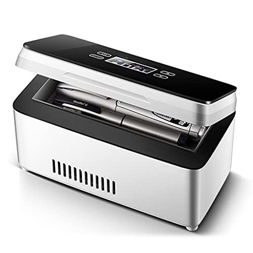 Yclty Refrigerador PortáTil de Insulina Mini Refrigerador Enfriador EléCtrico Nevera Coche Refrigerador De Medicamentos para El Hogar Oficina Viajes 0-18 ° C