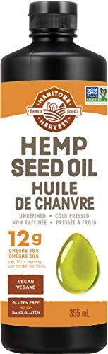 Manitoba Harvest Hemp Seed Oil, 12g of Omegas 3&6 Per Serving, Non-GMO, Vegan, Gluten-Free 355ml
