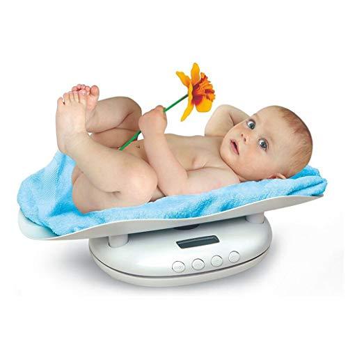 LSRRYD Elektronische babyweegschaal voor dieren, draagvermogen 0,1 kg - 60 kg 550x330x135mm Wit.