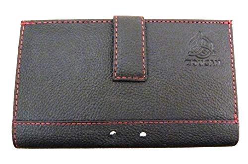 Black Genuine Leather Wallet Purse in Presentation Box (9174)