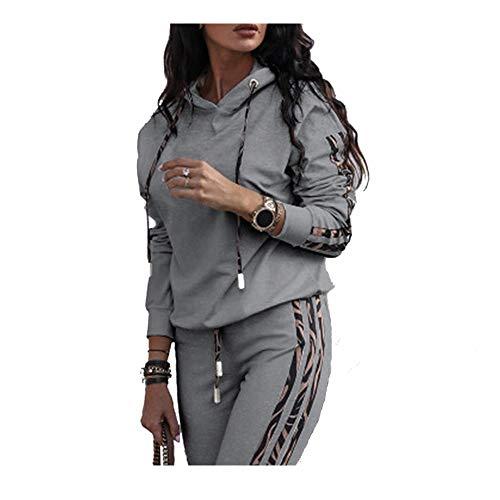Fossen MuRope 2 Piezas Chándal Mujer Conjunto, Chándales para Mujer Chándales + Pantalones Deportivos Pijamas Gimnasio, Entrenamiento