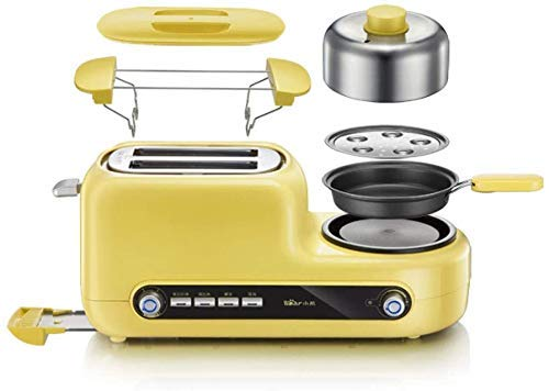 YAeele Easy to clean Breadmaker Breakfast Machine Toaster Cooking Omelette Home Toast Home 2 Tablets Toaster