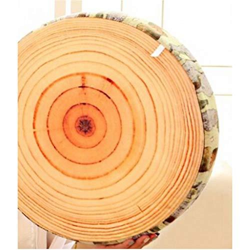 LANKOULI Holzhackkissen Nachahmung Baumstumpf Nackenkissen Plüschtiere Obstkissen Geburtstagskind 40cm