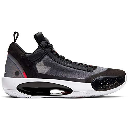 Air Jordan Xxxiv Bajo Zapatos De Basquetbol Hombres Cu3473-001, negro (Negro/Metálico Plata Blanco-Rojo Orbita), 42 EU