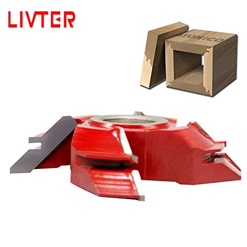 Affordable Xucus LIVTER 4 Teeth Woodworking Chipper Blade Angle Shaper Cutter Head for Wood Moulder ...