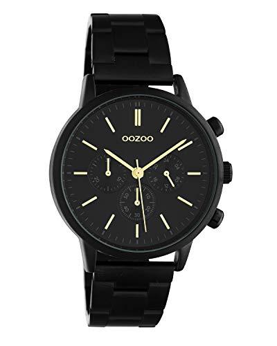 Oozoo C10564 - Orologio da polso unisex con cinturino in acciaio INOX, 38 mm, colore: Nero