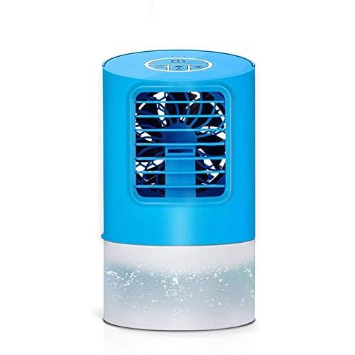 HaoLi Desktop-Luftkühler Micro Office Elektrischer Lüfter Mini Wassergekühlte Klimaanlage Spray Befeuchtung Bunte Lichter