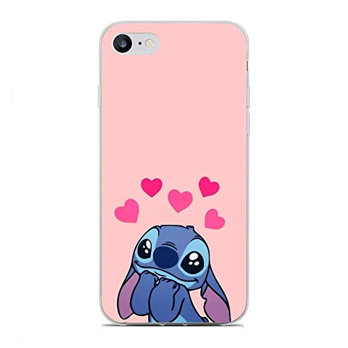 Joestar Clear Coque Soft Shockproof Thin Protective Liquid TPU Case Cover for Apple iPhone 7/8/SE 2020-Lovely Lilo-Stitch 5