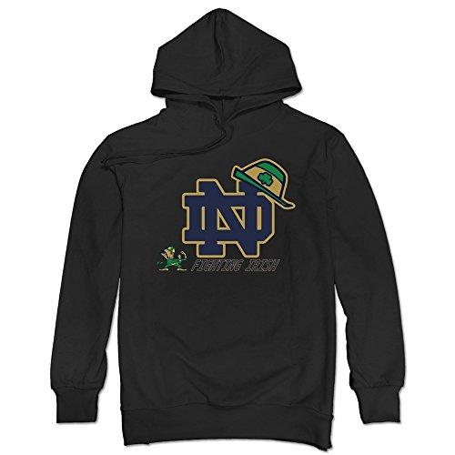 Men's Notre Dame Fighting Irish 2015 Shamrock Series Hat Hoodie Black