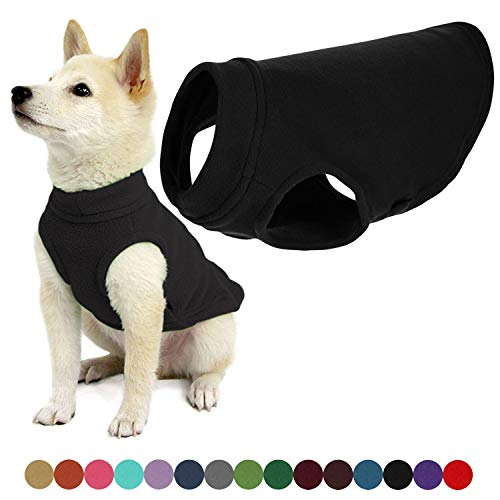 Gooby Stretch Fleece Dog Vest - Black, Medium...