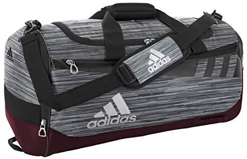 adidas Unisex Team Issue Medium Duffel Bag, Grey Loopermaroonblackwhite, ONE SIZE