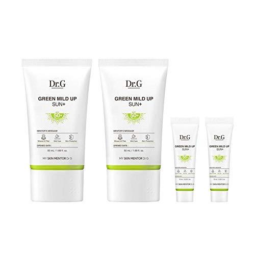 Dr.G Green Mild Up Sun Plus SPF50+ / PA++++ 50ml(1.69fl.oz) x 2ct, 10ml(0.33fl.oz) x 2ct / For sensitive skin, mild mineral sunscreen, fragrance-free
