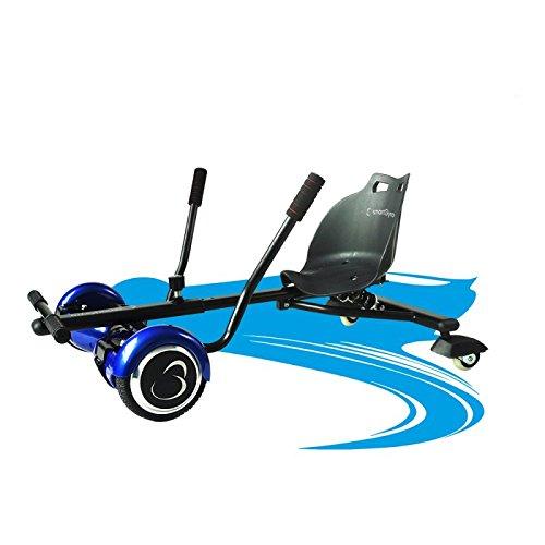 SmartGyro Crazy-Kart Black - Hoverkart, Soporte adaptable para patín eléctrico, Eje de 2 Ruedas locas y Suspensión Trasera, Diseñado para derrapar, color Negro ⭐
