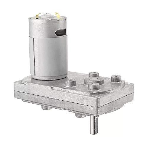 LKAIBIN DC 12V 6000RPM Motor de engranajes 5RPM Cuadrado Motor de impulsión eléctrica Cajas de engranajes