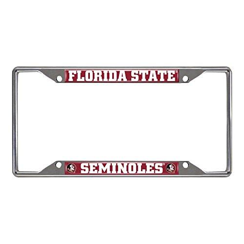 Florida State Seminoles (FSU) Colored Metal License Plate Frame