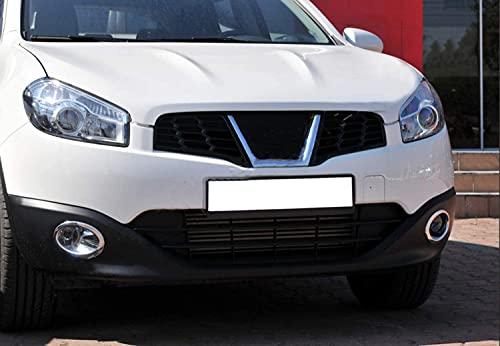 Para Qashqai 2010-2014 ABS cromado luz antiniebla llanta cubierta 2 piezas