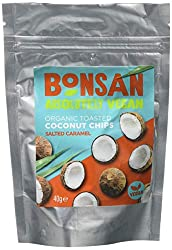 Certified Organic Suitable for vegans Made from Fresh Matured 100% Organic Coconut Made with natural seasonings, these chips are satisfying's and full of fibre Packed in a handy re-sealable pouch
