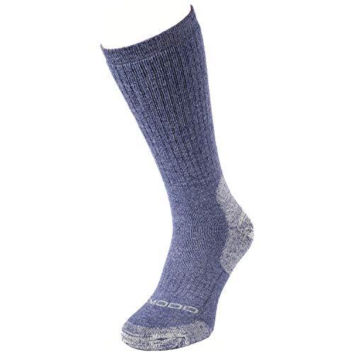 Comodo Bequeme socken - Wandersocken für mit Merinowolle/Alpakawolle,1 er Trekkingsocken,Merino,Alpaka Socken für Damen/Herren zum Wandern STWA gr 35-38 blau