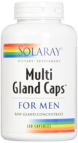 Solaray Multi Gland-Caps Supplement for Men, 120 Count