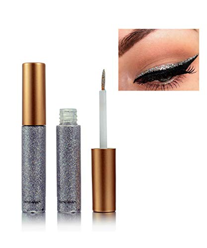 Emirde Liquid eyeliner set Glitter Liquid Eyeliner Waterproof Shimmer Silver Gold Metallic Colorful Eyeliners Eyeshadow Makeup #03