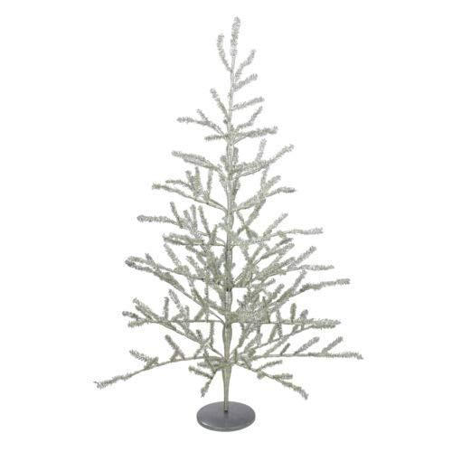 1 Pcs 3' Shiny Silver Tinsel Artificial Christmas Twig Tree Unlit XMAS20 BA117