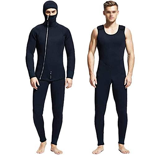 HYZXK Trajes de Neopreno para Hombres de 5 mm, para Hombres, Largos y Largos, para Hombres, Traje de Buceo de Cuatro Estaciones para Surfear/Nadar/Deportes acuáticos (tamaño: XX-Larg