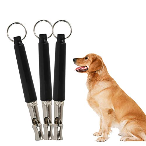 FOROREH 3pcs Hundepfeife, Ultraschall-Hundetrainingspfeife, Hochfrequenz Metall-Trainingspfeife