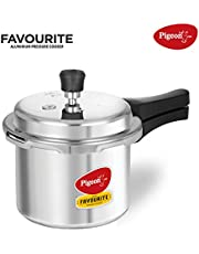Pigeon by Stovekraft Favourite Outer Lid Non Induction Aluminium Pressure Cooker, 3 Litres, Silver