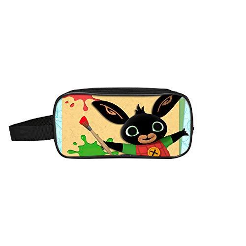 Bing Bunny Federmäppchen Bleistift-Kasten-Bleistift-Beutel-Kapazität Durable Halter Schüler Trend Teen Gift Jungen und Mädchen Mode Unisex (Color : A02, Size : 24 X 11 X 7cm)