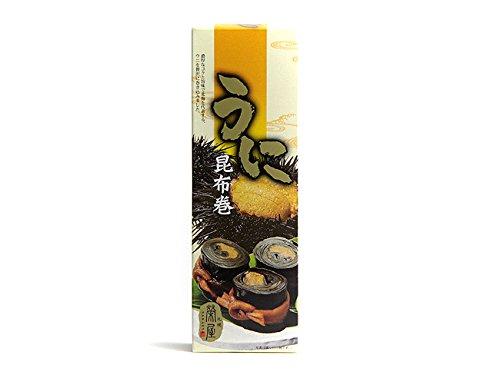 うに昆布巻(北海道産昆布)蒸しうにを北海道産のこんぶで贅沢に巻きました。お正月のおせち料理やご贈答用にも