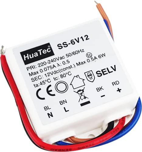 Eaglerise - Trasformatore HuaTec LED da 12 V, 6 W, 9 W, 30 W, 60 W, 75 W, 120 W, tensione costante per strisce LED da incasso di mobili, alimentatore di rete, driver, trasformatore