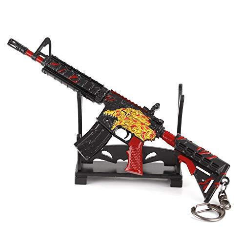 QISUO M4a1 Schlüsselanhänger aus Metall, Waffe, Spielzeug, Modal, Gaming-Peripheriegeräte, tolles Geschenk für Jungen, Mini-Action-Figur, Kunstsammlung, Schreibtisch-Dekoration, Pistole
