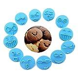 Ysoom Plätzchenausstecher Cookie Cutters, 13Pcs Emoji Plätzchenform Schokolade Keks Ausstecher Werkzeug Hausgemachte Gebäck-Versorgung
