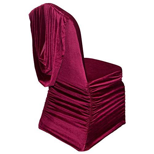 Hotel Restaurant Banket Stoelhoes Velvet Rok Trek Rimpel Stoelhoes Stoelmantel Eendelige stoelhoes-EEN_2 stuks