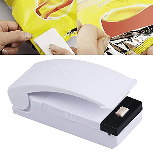 Sellador de alimentos eléctrico de prensa manual, sellador de calor de bolsa de plástico con base magnética, sellado práctico (color: 1)