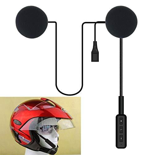 Luoshan Casco Universal Inalámbrico Bluetooth Auriculares Moto Interphone