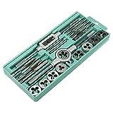YMOMY 20/40pcs/Set Fácil de Llevar la Punta de la Llave Inglesa métrica y el Juego de moldes M3-M12 Tapones de Rosca métrica Tapones de Tuerca de Perno de aleación de Metal Herramientas manuales