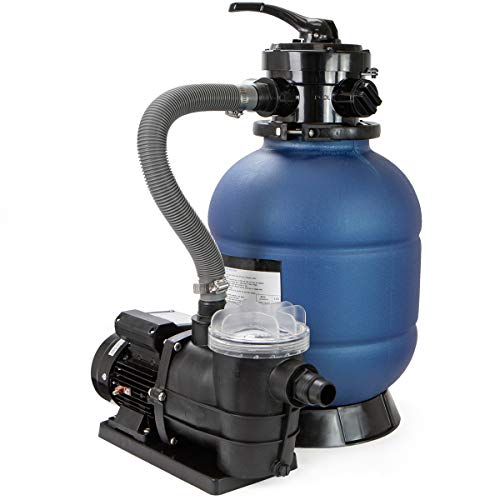 "XtremepowerUS 13"" Sand Filter with 3/4HP Pool Pump 4 Way Valve 3450 RPM Above Ground Pool Set with Stand"