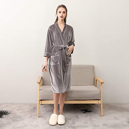 DHFNMG Badjas, nieuwe gouden fluwelen badjas zomer dunne badjas paar Badjas, hotel thuis kleding
