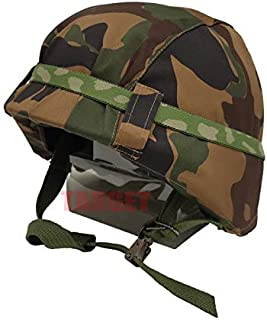航空自衛隊 野戦迷彩カバー付きヘルメット 鉄帽ゴム付