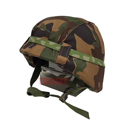 品 航空自衛隊 野戦迷彩カバー付きヘルメット 鉄帽ゴム付