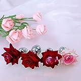 Rose Flower Änal-e Pl'u'g para Hombres y Mujeres Mǟssǻger Ball Juguetes de Acero Inoxidable