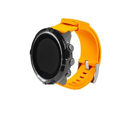 Coque pour Suunto Spartan Sport Wrist HR Case, JSxhisxnuid Souple TPU d'écran Ultra-Mince Étui de Protection Anti-Chocs Anti-Rayures Couverture, pour Suunto Spartan Sport Wrist HR (Noir)