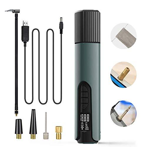 XYSQWZ Inflador De NeumáTicos De Coche PortáTil 140Psi USB Compresor De Aire InaláMbrico LCD Bomba De Mano Inflable para Coches Bicicletas NeumáTicos Bolas Ruedas De NatacióN Cuyrhtzy5.1