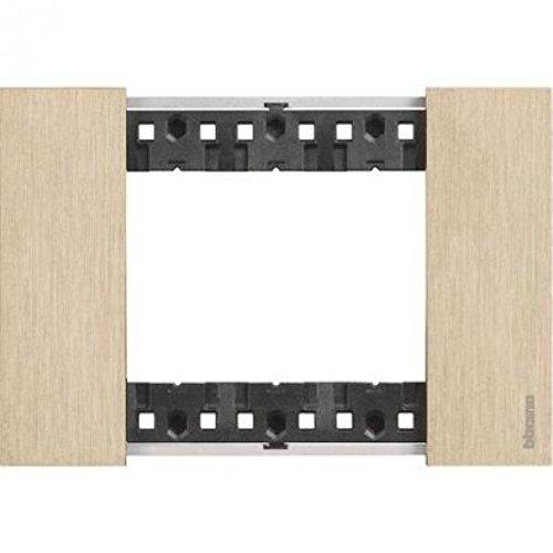 Bticino KA4803ZW Living Now - Placca 3 Moduli, Oro, 123 x 50 x 10 cm
