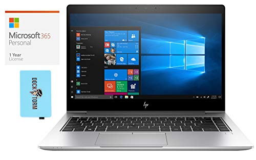HP EliteBook 840 G6 Home and Business Laptop (Intel i5-8265U 4-Core, 64GB RAM, 512GB PCIe SSD, Intel UHD 620, 14.0' Full HD (1920x1080), Fingerprint, WiFi, Win 10 Pro) with Hub, Microsoft 365