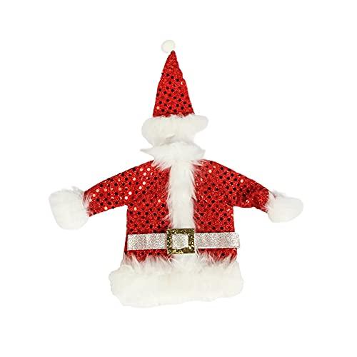Somerway Bolsa De Botella De Vino Vestido Rojo De Navidad Pap Noel Cubierta De Cerveza para Decoraciones De Mesa De Navidad A