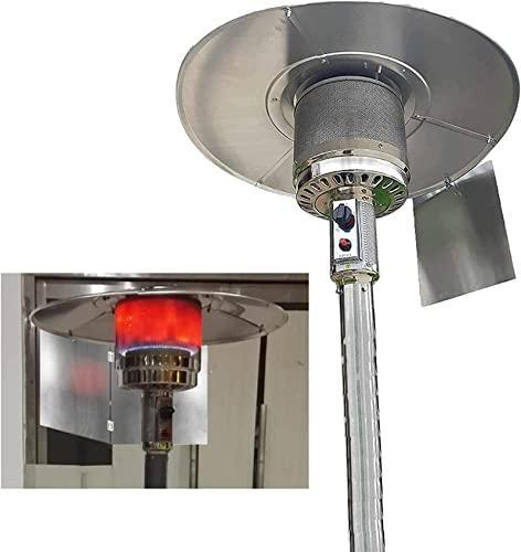 TEPET Riflettore di Messa a Fuoco Pieghevole del riscaldatore del Patio, Scudo Protettivo Regolabile del riscaldatore Esterno per riscaldatore Rotondo a Gas Naturale e propano